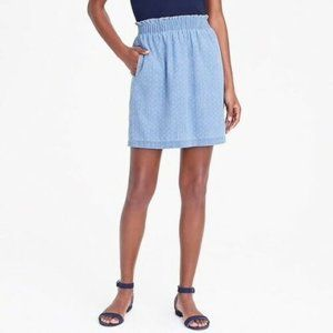 Pull-on Chambray JCRew skirt with pockets